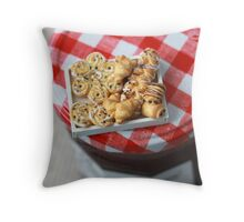 Pass the Jam and Miniature Croissants Throw Pillow