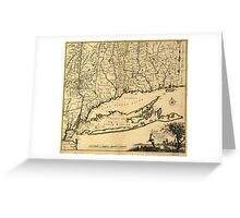 Map of Connecticut and Parts Adjacent (1780) Greeting Card