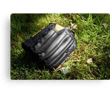 Baseball glove in the grass Canvas Print