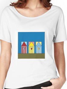 Beach Huts Women's Relaxed Fit T-Shirt