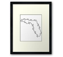 Cities of Florida 001 Framed Print