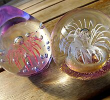 Glass baubles by Ali Brown