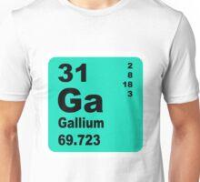 Gallium Periodic Table of Elements Unisex T-Shirt