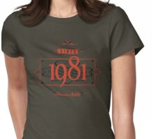 Since 1981 (Red&Black) Womens Fitted T-Shirt