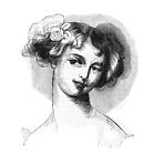 """""""Laura"""" engraving after Gigoux for Gil Blas 1835 by OldeArte"""
