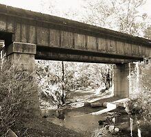 John Forrest - Railway Bridge - Black & White by Stephen Horton