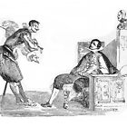 """""""Martin & Gil"""" engraving after Gigoux for Gil Blas 1835 by OldeArte"""