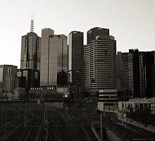 Melbourne City Skyline by Stephen Horton
