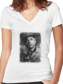 Lee Marvin Actor by John Springfield Women's Fitted V-Neck T-Shirt