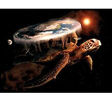 Turtle World - Space black transparency Photographic Print