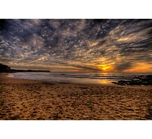 New World In The Morning -Warriewood Beach, Sydney - The HDR Experience Photographic Print