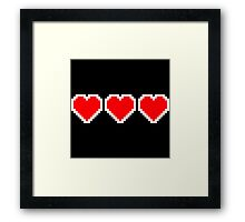 Pixel Hearts Framed Print