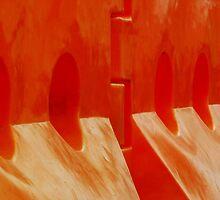 Orange Barriers by Gryphonn