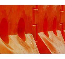 Orange Barriers Photographic Print
