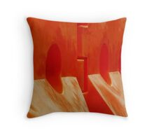 Orange Barriers Throw Pillow