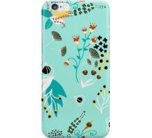 Peculiar blue garden iPhone Case/Skin