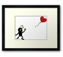 Heartless with a Balloon Framed Print
