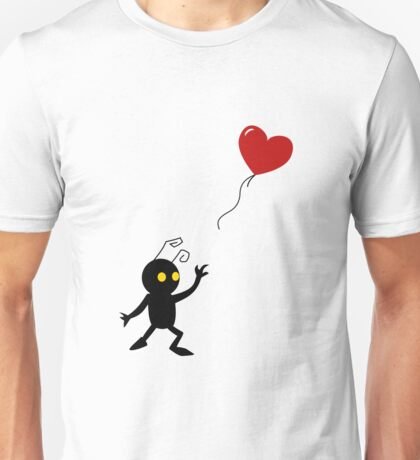 Heartless with a Balloon Unisex T-Shirt