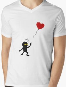 Heartless with a Balloon Mens V-Neck T-Shirt