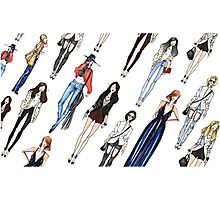 Casual Girl's outfits Photographic Print