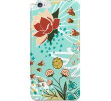 peculiar flowers blue iPhone Case/Skin
