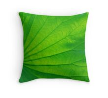 green vein Throw Pillow