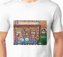 MONTREAL ART CANADIAN PAINTINGS FOR SALE POINTE ST.CHARLES DELI SMOKED MEAT Unisex T-Shirt
