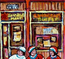 MONTREAL ART CANADIAN PAINTINGS FOR SALE POINTE ST.CHARLES DELI SMOKED MEAT Sticker