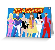 Legion of Super-Heroes Minimal 1 Greeting Card