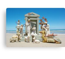 Nativity scene @ the beach Canvas Print