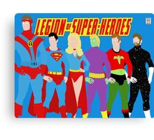 Legion of Super-Heroes Minimal 2 Canvas Print