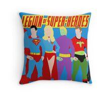 Legion of Super-Heroes Minimal 2 Throw Pillow