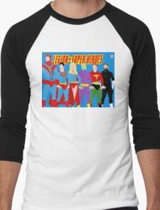 Legion of Super-Heroes Minimal 2 Men's Baseball ¾ T-Shirt
