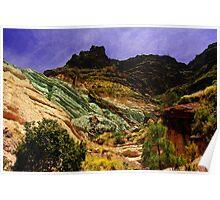 Multicoloured Mountain Poster