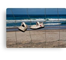 Two Shoes Left Behind Canvas Print