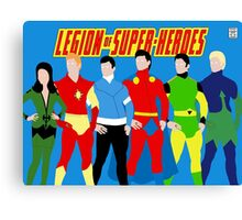 Legion of Super-Heroes Minimal 3 Canvas Print