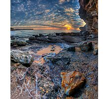 Textures - Warriewood Beach Headland, Sydney (35 Exposure HDR Panoramic) The HDR Experience  Photographic Print