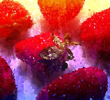 Painting Strawberries. by Vitta