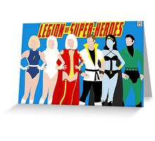 Legion of Super-Heroes Minimal 4 Greeting Card