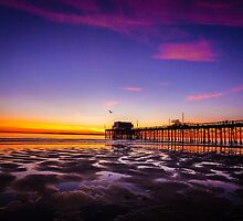 Newport Pier Sunset by Pamela Newcomb