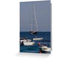 Capri Boats Greeting Card
