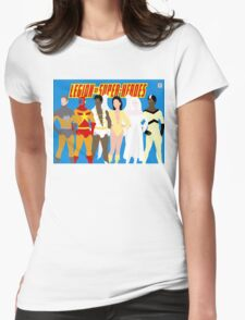 Legion of Super-Heroes Minimal 5 Womens Fitted T-Shirt