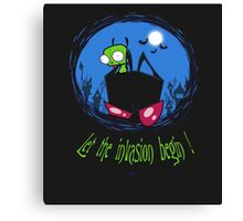 Let The Invasion Begin !  Canvas Print
