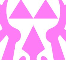 Triforce (Pink) Sticker