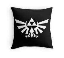 Triforce (White) Throw Pillow