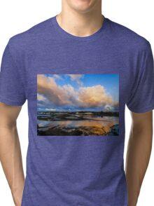 Back Bay Sunrise Clouds Tri-blend T-Shirt