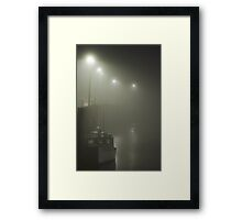 A Hall's Harbour Nova Scotia Night Framed Print