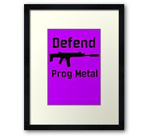 DEFEND PROG METAL Framed Print