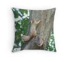 Even Peanuts Can't Bribe the Young Ones Throw Pillow