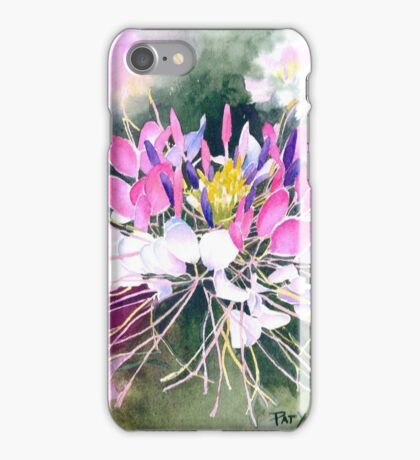 Cleome Blossom Watercolor iPhone Case/Skin